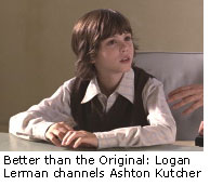 Logan Lerman channels Ashton